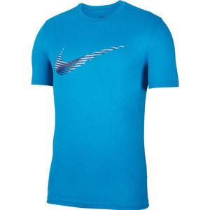 Nike DRY LEG TEE SNSL COM SWSH M modrá XL - Pánské tréninkové tričko