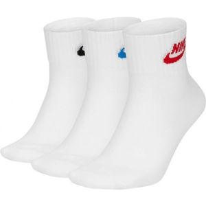 Nike NSW EVRY ESSENTIAL ANKLE U bílá M - Ponožky
