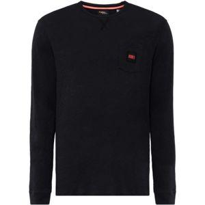 O'Neill LM THE ESSENTIAL L/SLV T-SHIRT černá XL - Pánské tričko s dlouhým rukávem