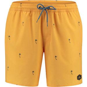 O'Neill PM MINI PALMS SHORTS žlutá M - Pánské koupací šortky