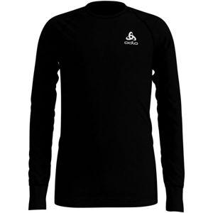 Odlo SUW KIDS TOP L/S CREW NECK ACTIVE WARM černá 164 - Dětské tričko s dlouhým rukávem