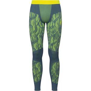 Odlo SUW MEN'S BOTTOM PERFORMANCE BLACKCOMB tmavě zelená XL - Pánské funkční kalhoty