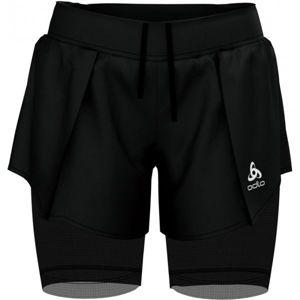 Odlo 2IN1 SHORTS ZEROWEIGHT CERAMICOOL PRO černá S - Dámské šortky