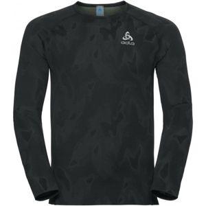 Odlo VIGOR BL TOP CREW LS černá S - Pánské funkční tričko