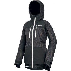 Picture LANDER PRINT černá XL - Dámská zimní bunda