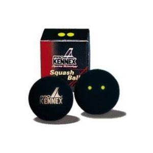 Pro Kennex SQ MÍČ ŽLUTÝ DVĚ TEČKY  NS - Squashový míč