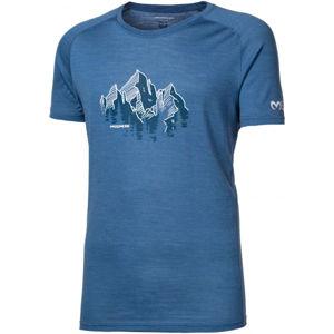 Progress TASMAN modrá M - Pánské triko z merino vlny
