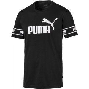 Puma AMPLIFIED BIG LOGO TEE černá L - Pánské moderní triko