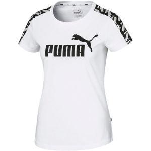Puma AMPLIFIED TEE bílá S - Dámské sportovní triko
