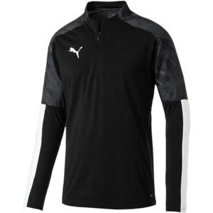 Puma CUP TRAINING 1 4 ZIP TOP černá M - Pánské sportovní triko
