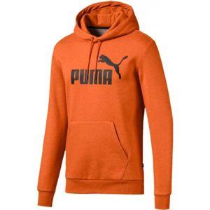 Puma ESS + HOODY FL oranžová XL - Pánská sportovní mikina