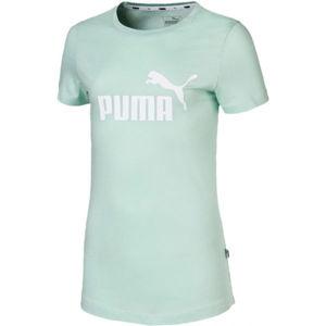 Puma ESS LOGO TEE G světle zelená 128 - Dívčí sportovní triko