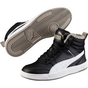 Puma REBOUND STREET V2 FUR JR černá 3.5 - Dětská zimní obuv