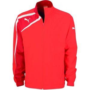 Puma SPIRIT WOVEN JACKET JR červená 176 - Dětská sportovní bunda