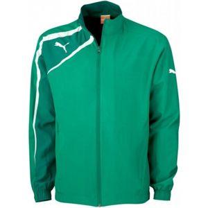 Puma SPIRIT WOVEN JACKET zelená M - Sportovní bunda