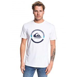 Quiksilver SNAKE DREAMS SS bílá S - Pánské tričko