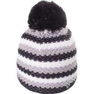 R-JET SPORT FASHION EXLUSIVE PRUH LUREX bílá UNI - Dámská pletená čepice