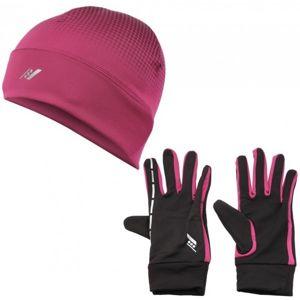 Rucanor SET LOAN A VINES růžová XS/S - Set rukavice a čepice