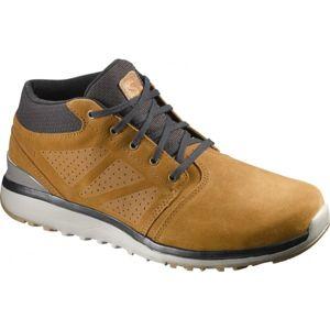 Salomon UTILITY CHUKKA TS WR béžová 11 - Pánská zimní obuv