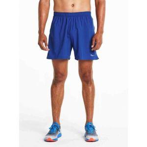 Saucony THROTTLE SHORT VARSITY modrá L - Pánské běžecké šortky
