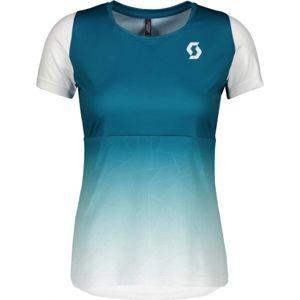Scott TRAIL TECH S/SL W modrá L - Dámské triko