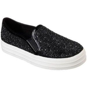 Skechers DOUBLE UP-GLITZY GAL černá 40 - Dámské slip on boty