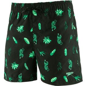 Speedo JUNGLEROAR ALLOVER zelená S - Chlapecké koupací šortky
