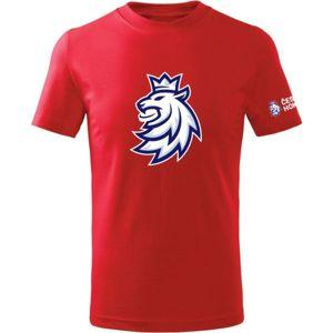 Střída LOGO LEV CIHT červená 112-116 - Dětské triko