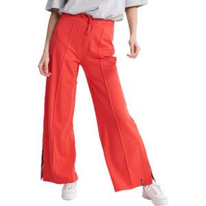Superdry EDIT WIDE LEG JOGGER červená 8 - Dámské kalhoty