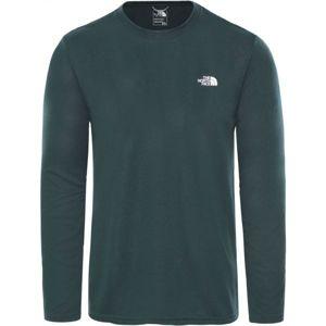 The North Face REA AMP L/S CR-EU zelená S - Pánské tričko