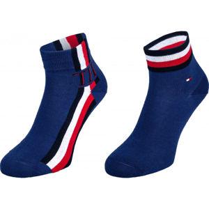 Tommy Hilfiger MEN QUARTER 2P ICONIC STRIPE  43-46 - Pánské ponožky