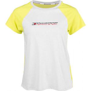 Tommy Hilfiger COTTON MIX TOP LOGO bílá S - Dámské tričko
