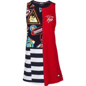 Tommy Hilfiger DRESS PRINT červená L - Dámské noční šaty