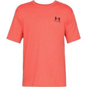 Under Armour SPORTSTYLE LEFT CHEST SS oranžová M - Pánské triko